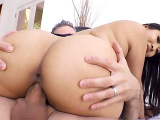 Dazzling Sharon Lee customization her Asian ass with a big dong