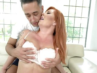 Man hadn't felt such pleasure before he older with redhead