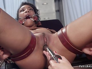 Ebony doctor spanked with an increment of got laid