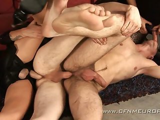 CFNM honourable hell: submissive guys ass fucked by cissified dominas