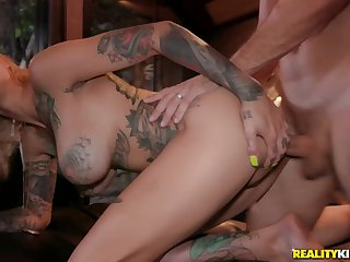 Bonnie Rotten acquiring their way eager holes master with big dick