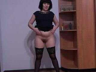 Hairy anal and vaginal masturbation