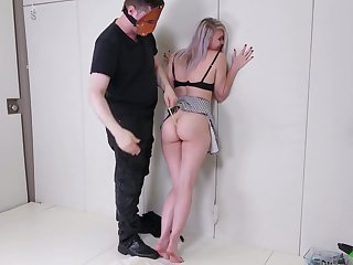 Blondie Olivia Kasady gets her anus dildo fucked and banged hard doggy style