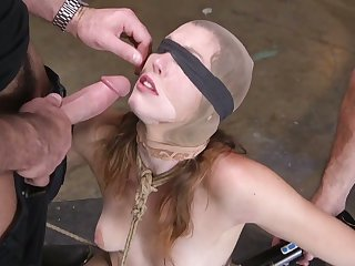 Kinky perverts fuck deep throat and anus of promised and restrained virago Ella Nova