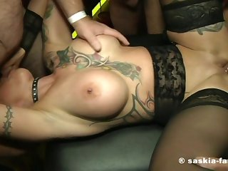 German Amateur Sex Gangbang Bukake 3 - facial