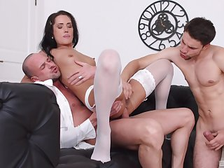 Angie Moon deals two dicks in the most artistically amazing manners