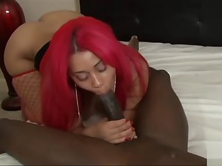 Horny adult clip Coal-black check pretty one