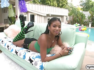Ebony bombshell Nia Nacci gets ass fucked
