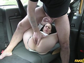 Amateur filmed when getting the dick on the back depths