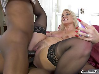 Negro studs double penetrate Lisey Sweet, and it's team