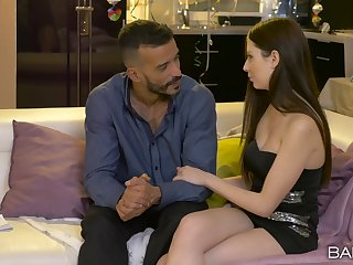 Penny-pinching babe feels perfect about this man's cock so deep in will not hear of cunt