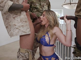 Double penetration gangbang with cock hungry model Cory Chase