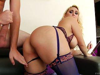 Crazy anal-insane whore Nina Kayy gets facial enquire about a senseless anal pounding