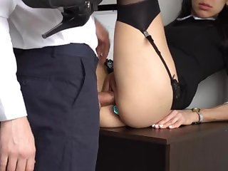 Botheration Fucking Internal Ejaculation For Gorgeous Super-Bitch Assistant, Arch Smashed Her Cock-Squeezing Cooter And Culo!
