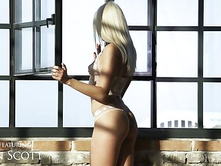 Beautiful blond seductress Angelika Grays gets her aggravation hole nailed