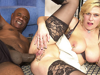 eroded milf ass fucked by a black monster cock