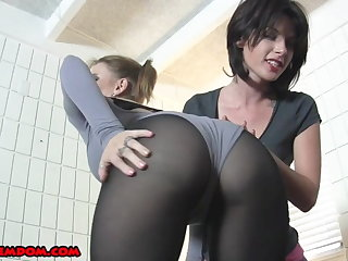 Femdom Strapon Chastity with the addition of Cum Feeding Compilation