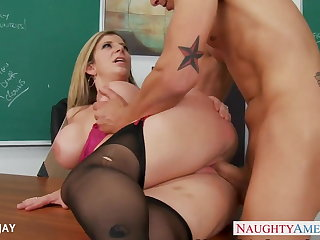 MILF Teacher Sara Fiddle around fianc