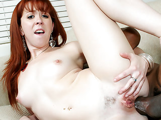 Redhead Trinity Post Gets Her Asshole Annihilated apart from an Ultra Thick BBC