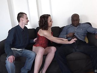Anita Sparkle ass fucked by a black guy while her cuckold watches