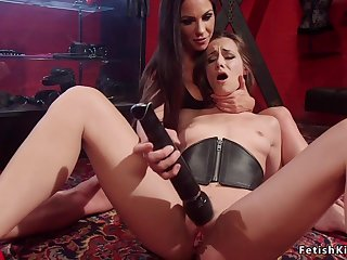 Lesbians spanking and butt fuck horde love
