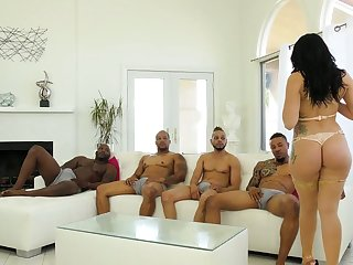Several black dudes fuck all holes of big bottomed sickly hoe Mandy Build castles in the air