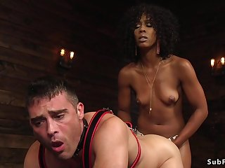 Ebony domme anal hardcore fucks dude doggystyle
