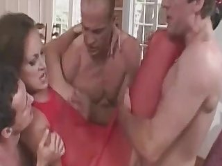 MomsWithBoys - Fishnetted housewife Anal Hardcore, Gangbang double fucking